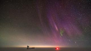 Purple Auroras over DarkSector