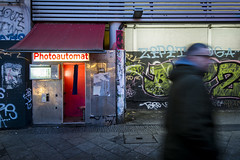 Berlin Photoautomat (Alexander JE Bradley) Tags: kottbussertor 1424mmf28 d500 nikon nikkor germany deutschland berlin photoautomat photobooth vendingmachine kiosk coinoperated camera filmprocessor passport booth street landscape wwwaperturetourscom wwwalexanderjebradleycom travelphotography travel photography photograph alexanderjebradley