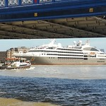 La Boreal cruise ship leaving London thumbnail