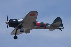 Private Mitsubishi A6M3 NX553TT (jbp274) Tags: cno kcno airport airplanes restored vintage warbird mitsubishi a6m zero