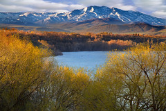 Hyrum State Park Utah (Utah Images - Douglas Pulsipher) Tags: wasatchmountains utah ut logan cachevalley hyrumstatepark reservoir lake water sports recreation recreationalarea boating fishing camping tourism tourist attraction destination sharppeakapril may spring springtime trees cottonwoods forest forested