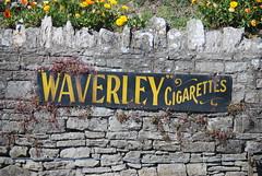Waverley cigrettes sign, Swanage Station (DorsetBelle) Tags: waverlycigarettes enamelsigns advertisingsigns swanage swanagestation swanagerailway signs advertising heritagerailways railwaystations