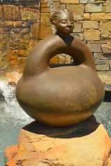 Channeling the sounds of the water (radargeek) Tags: sulphur oklahoma ok sculpture chickasaw