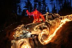 Crash & Burn (jannepaint) Tags: lightpainting lightdrawing lightart longexposure