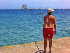 Let's go fishing (gerard eder) Tags: landscape landschaft paisajes spain spanien städte strand streetlife beach playa fishing sailing mediterraneo mediterranean mittelmeer natur nature street barcelona europa europe españa world travel viajes reise outdoor meer mar sea angeln