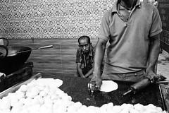 Parathas (Jetlag & A Camera Bag) Tags: paratha flatbread hyderabad india leica m6 summicron 35mm film blackwhite monochrome streetphotography travelphotography ilford hp5