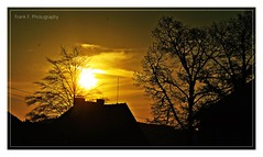 Silhouettes (friedrichfrank1966) Tags: silhouettes morning today black rahmen sunshine sunrise trees houses clouds nikon 70300 d90 nature