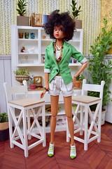 Black Panther Momoko (Girl Least Likely To) Tags: momoko ccs closeclippedsheep sunnylingerie blackpanther curlyhair brunette tan dolls asianfashiondolls japanesetoys miniatures dollhouse dollscene dollroom diorama