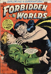 ForbiddenWorlds (kevin63) Tags: lightner cover comicbook magazine horror fiction illustrated terror forbidden worlds vampire cat demon female woman claws fangs man victim pointedears old vintage retro antique precode