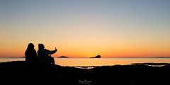 That Sunset Selfie Moment (Kurt Evensen) Tags: myklebust peoplesilhouettes silhouette sunset water light sky seascape rogaland sea norway shore no