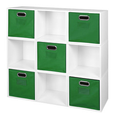 PC9PKWH_HTOTEGN (RegencyOfficeFurniture) Tags: niche regency cubo cubestorage modularstorage modular connecting connectable adaptable custom customizable cube square storageset closet organizer organization furniture cubes expandable home melamine laminate woodtone white whitewoodgrain pc9pk pc1211wh green greenstorage greenbins greentotes htotegn