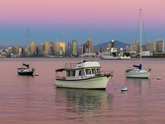 San Diego Calm (1bluecanoe) Tags: bluehour sandiego ca harbor boats nautical sunset scenic calm 1bluecanoe shelter island painterly project