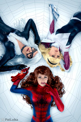 The Many Loves of Spider-Man (PatLoika) Tags: jscottcampbell cosplay costume cosplayer cosplayphotography spiderman spidergwen gwenstacy blackcat maryjanewatson feliciahardy