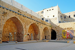 Israel-05095 - Crusader Courtyard (archer10 (Dennis) 94M Views) Tags: israel akko acre crusader fortification castle town tunnel lighthouse museum port ruins mediterranean globus sony a6300 ilce6300 18200mm 1650mm mirrorless free freepicture archer10 dennis jarvis dennisgjarvis dennisjarvis iamcanadian novascotia canada
