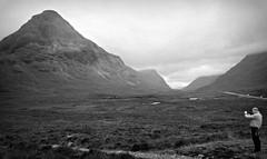 Framed Glencoe (plot19) Tags: scotland scotish sky scene landscape man male north northern northwest uk britain british plot19 photography mountains mood glencoe blackandwhite blackwhite black sony rx100