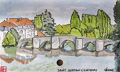 Le Tour de France virtuel - 86 - Vienne (chando*) Tags: aquarelle watercolor croquis sketch france