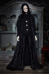 Black Lord (AyuAna) Tags: bjd ball jointed doll dollfie ayuana design handmade ooak clothing clothes dress set historical fantasy gothic style ordoll orlando hybrid dollshe 18m body