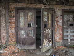 Open Doors (Brian Rome Photography) Tags: urbex urbanexploration travel buffalo graffitti decline crumbling rustdoors brick mortar station railway railroad bct open tagged abandoned explore exploration discovery