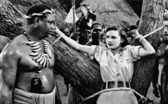 Lois Collier in Jungle Queen (1945) (Tom Simpson) Tags: loiscollier junglequeen 1945 1940s woman bondage ropes bound tied film movie actress