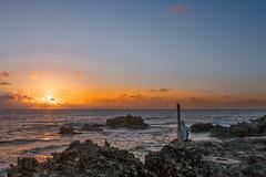 Half Moon Beach (Spleen Havoc) Tags: playa la medialuna half moon beach mexico sunrise ocean caribbean sea landscape seascape sun sol clouds rocks cliff beautiful beachlife