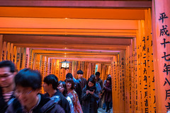 Fushimi Inari-taisha (julesnene) Tags: canon7dmark2 canon7dmarkii canonef35mmf14lusmlens fushimiinarishrine fushimiinaritaisha inarishrine japan juliasumangil kyoto shinto destination fox julesnene orange religion shrine torii touristattraction travel kyōtoshi kyōtofu jp