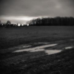Night field. 1 (gaubitsa) Tags: monocle monoclelens meniscus bwphotography analogphotography ishootfilm pictorialism neopictorialism 6x6 mediumformat