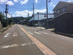 Hot springs snow clearance system (Stop carbon pollution) Tags: japan 日本 honshuu 本州 touhoku 東北 fukushimaken 福島県 road onsen cycletouring 自転車ツーリング