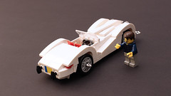 Jaguar XK 120 (OutBricks) Tags: lego jaguar afol moc classic car