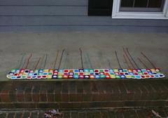 A view of rows 22, 23 and 24 (crochetbug13) Tags: crochet crocheted crocheting crochetsquares crochetcircles crochetblanket crochetthrow crochetafghan crochethilbertcurve crochetcurve hilbertcurve