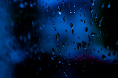 Still Got The Blues (Brian Travelling) Tags: still got blues inspired music emotion feeling water droplets blue window pane glass