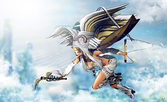 Heavenly judge (meriluu17) Tags: clavv luas ayashi poseidon angel fantasy surreal judge fly clouds cloud heaven heavenly angelic angelical people outdoor