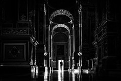Montecassino Abbey - Cassino, Italy - Black and white street photography