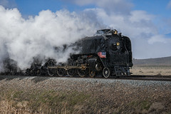 Steam Train Pressing On Through A Springtime Snow Storm (jetguy1) Tags: locomotive steamlocomotive train wyoming steamtrain snowstorm