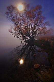 Lake McGregor on a moonlit night