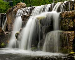 Chiswick Park Waterfall (Warren Brendan McCann) Tags: canon canong1x london waterfall rocks water chiswick chiswickpark