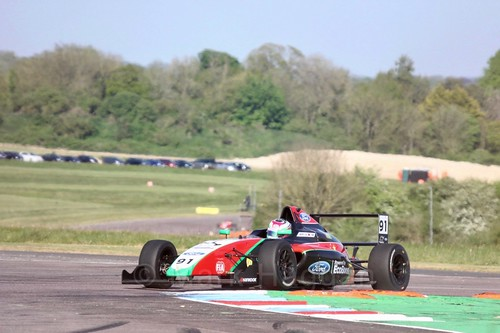 Liu Zhuangling in British Formula Four at Thruxton, May 2017