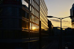 Morning Light (nellia.sadler) Tags: landscape view morning light dark early am winter autumn season cold golden hour london city camera nikon photography road england picture place tourist travel image capture apperture buildings reflection walls contrast lamp lighting busy dslr digtial