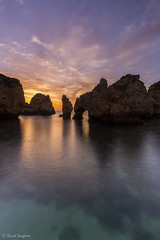 Ponta Da Piedade III. [Explored & FP 05-04-2017] (dasanes77) Tags: canoneos6d canonef1635mmf4lisusm tripod landscape seascape cloudscape waterscape clouds dawn sunrise sun sky heaven orange red blue green rocks cliffs elephant shadows reflections morning transparentwater pontadapiedade lagos portugal calm