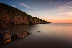 Sand Point Sundown (Chris Sweet Photography) Tags: sunset goldenhour somerset seascape landscape longexposure coast coastal rocks cliffs