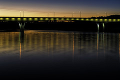 US 281 Bridge, Marble Falls, TX (Scott Sanford) Tags: 6d canon ef2470f28l eos hillcountry lake landscape lights longexposure marblefalls naturalbeauty naturallight nature night outdoor reflection summer sunlight texas topazlabs water beautiful shadow bluehour