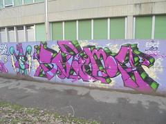 esci le minne/ nonne (en-ri) Tags: svame boc bocs crew viola arrow torino wall muro graffiti writing