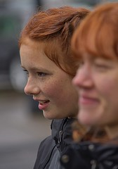 Redheads & Freckles (swong95765) Tags: womaen females ladies redhead toehead freckles bokeh profile watch viewing