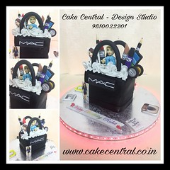 Mac Cake  #designercake #delhi #fondant #themed #mac #newdelhi #southdelhi #fashion #edible #figurine #girlfriend  #diva #designer #cake #order #gurgaon #noida (Cake Central-Design Studio) Tags: firstbrthday designercake delhi fondant themed kidscake