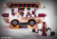 Jason Todd Hot Dog Suit (WattyBricks) Tags: lego dc comics superheroes batman robin jason todd dick grayson joker harley harleen quinn quinzel clown prince princess crime gotham rogues gallery