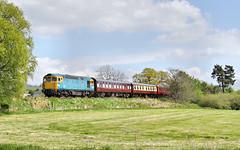 Crompton On The Cauldon Lowe Branch. (Neil Harvey 156) Tags: railway 33102 sophie apesford cauldonlowebranch churnetvalleyrailway class33 brblue railblue sulzertype3 crompton