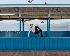 Jill (J Trav) Tags: camerasanddancers dancer portrait beach santamonica santamonicapier ocean blue