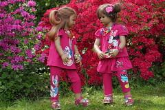 Tivi und Milina ... ein pinker Frühlingstag ... (Kindergartenkinder) Tags: grugapark essen kindergartenkinder blüte baum garten blume park frühling annette himstedt dolls tivi milina