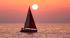Sailing at sunset - Tel-Aviv beach (Lior. L) Tags: sailingatsunsettelavivbeach sailing sunset telaviv beach sailboat sea travel israel telavivbeach nature travelinisrael