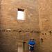 Cindy exploring Pueblo Bonito