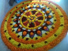 IMG_20160914_085707 (bhagwathi hariharan) Tags: onam pookalam flower rangoli kolam carpet floral nalasopara nallasopara virar aathapookalam tiruonam